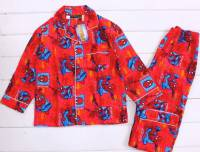 Boy's Flannelette Pyjamas (100% Cotton) - Spiderman Pyjamas - Size 8 - Red - Limited Stock