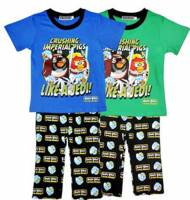 Boy's 100% Cotton Spring/Autumn Pyjamas - Angry Birds Star Wars Pyjamas - Size 1 - Blue/Black - Limited Stock