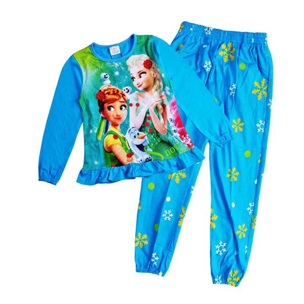 3abaf1458 blue disney frozen anna elsa pyjamas size3 - Girl s 100% Cotton ...