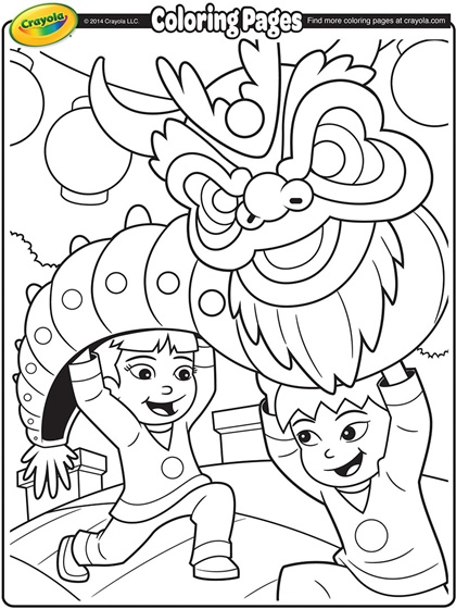 dragon dance coloring pages - photo#10