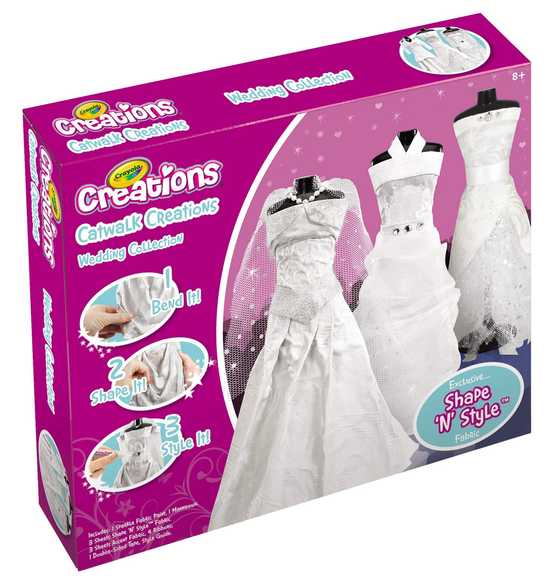 28 1205 Crayola Creations Catwalk Creations Wedding Collection Limited Stock Available