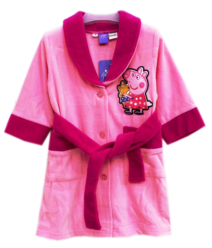 peppa_pig_gown_size1 - Girl\'s Fleece Dressing Gown - Peppa Pig Gown ...
